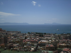 Panorama over bay of naples